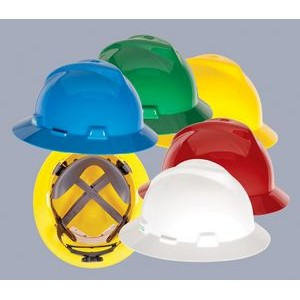 MSA V-Gard� Full-Brim Hardhat w/ FasTrac Ratchet Suspension
