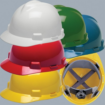 MSA V-Gard® Hardhat w/ FasTrac Ratchet Suspension