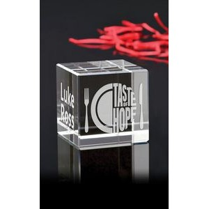 Small Cube Paperweight Award