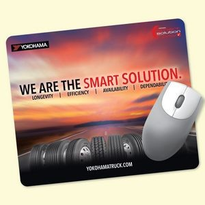 "ReTreads® 8""x9.5""x3/32"" Recycled Hard Surface Mouse Pad"