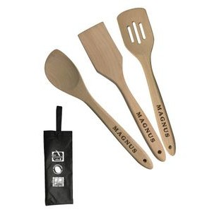 3 Piece utensil set with wine bag