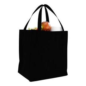 Non Woven Grocery Bag w/ Full Gusset - Blank (12 1/2
