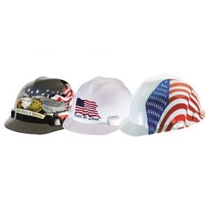 MSA's Freedom Hard Hat (Dual American Flag)